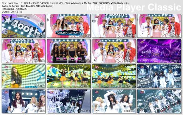 쇼! 음악중심 E400 140308 소녀시대 MC + Wait A Minute + Mr. Mr. 720p 60f HDTV x264-RAiN.mkv_thumbs_[2014.03.13_04.27.46]